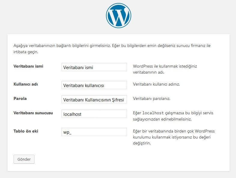 WordPress Manuel Kurulumu